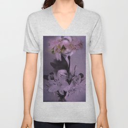 The girl who wanted to be a flower Unisex V-Neck