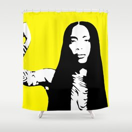 Erykah Stencil Shower Curtain