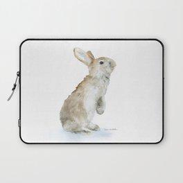 Bunny Rabbit Watercolor Laptop Sleeve