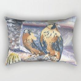Two Baby Falcons Rectangular Pillow