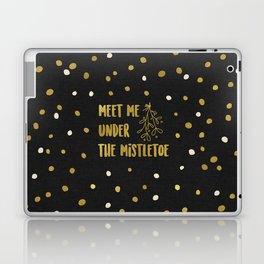 Meet Me Under The Mistletoe Gold Laptop & iPad Skin