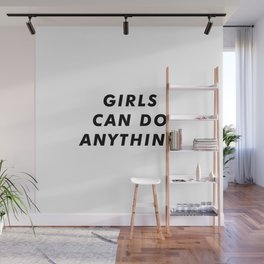 Girls can do anything aesthetic Wall Mural