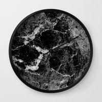 marble Wall Clocks featuring Marble by Three of the Possessed
