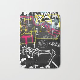 New York Traces - Urban Graffiti Bath Mat