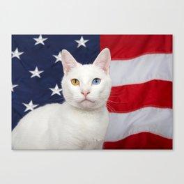 Ameri-Cat the beautiful Canvas Print