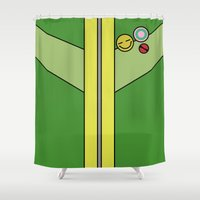 persona Shower Curtains featuring Persona 4 Chie Satonaka Jacket by Bunny Frost
