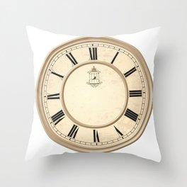 Classy Vintage Birdcage Decorative Clock Throw Pillow