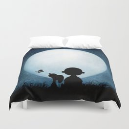snoopy carlie night Duvet Cover
