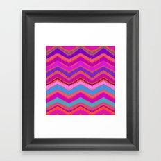 Purple zigzag Framed Art Print