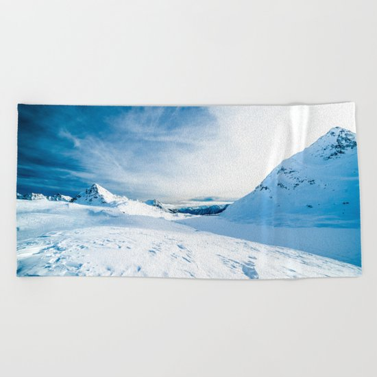 White Mountain 3 Beach Towel