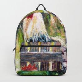 Farm Yard Chicken - Acrylic Art Backpack