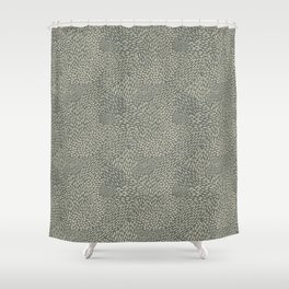 Abstract Brush Strokes, Gray and Tan Shower Curtain