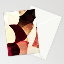 Baroque Burgundy Copper Ivory Maximum Abstract Art Stationery Cards