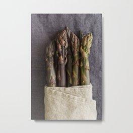 Purple asparagus Metal Print