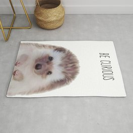 Hedgehog , Woodland Animal Wall Art, Nursery Decor, Peekaboo Animal Rug