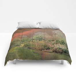 English Garden Sunset Comforters