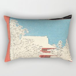Utagawa Hiroshige -100 Famous Views of Edo - Asakusa, Kinryuzan Rectangular Pillow