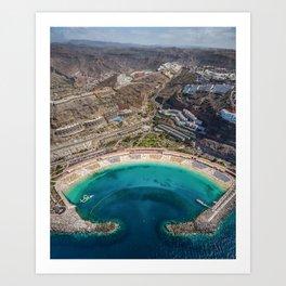 Amadores beach - Gran Canaria Art Print