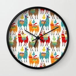 Llamas Colours Wall Clock