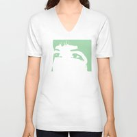 melissa smith V-neck T-shirts featuring Melissa Eyes by JRBM