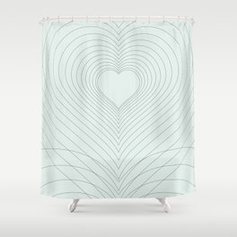 Love Heart Pattern #society6 #love #buyart Shower Curtain