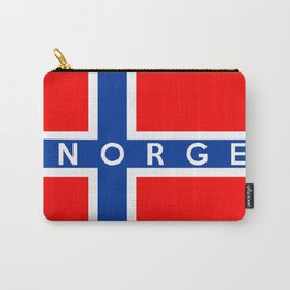 norway country flag norge name text Carry-All Pouch