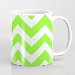Spring Frost - green color - Zigzag Chevron Pattern Coffee Mug