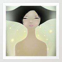 women Art Prints featuring women by wit_art