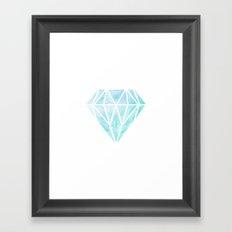 Diamond watercolour Framed Art Print