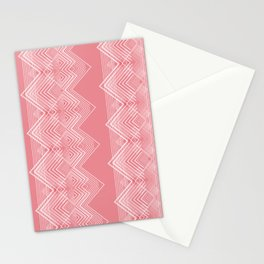 Coral ZigZag Pattern Design Stationery Cards