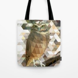 Burrowing Owl - Low Poly Technique Tote Bag