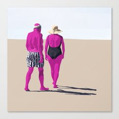 De espaldas Canvas Print