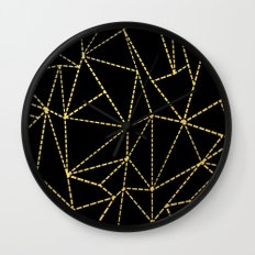 Ab Dotted Gold Wall Clock