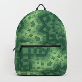 Green basket weave Backpack