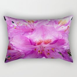 Beautiful Pink Rhododendron Pontica Rectangular Pillow