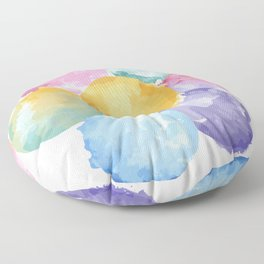 Flor acuarela Floor Pillow