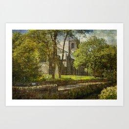 St Bartholomew's Church Marsden Art Print