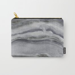 Watercolor Agate in Gray Carry-All Pouch