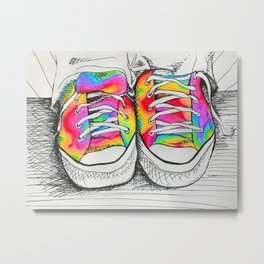 Walk a Mile in my Chucks Metal Print