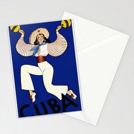 Vintage Cuba Dancer Travel Stationery Cards