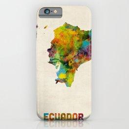 Ecuador Watercolor Map iPhone Case