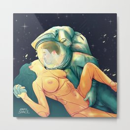 Erotic Space 01 Metal Print