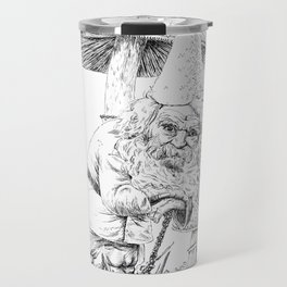 Knobby-caned gnome with mushrooms Travel Mug