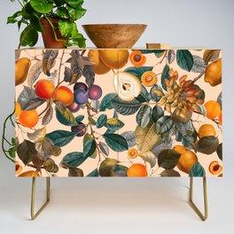Vintage Fruit Pattern IX Credenza
