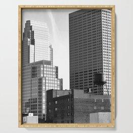 Minneapolis Skyline Black and White Minnesota Serving Tray