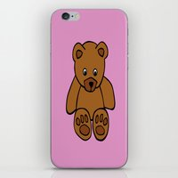 teddy bear iPhone & iPod Skins featuring Teddy Bear by ArtSchool
