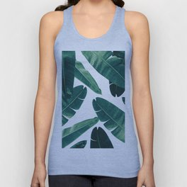Banana Leaves - Cali Vibes #2 #tropical #decor #art #society6 Unisex Tank Top