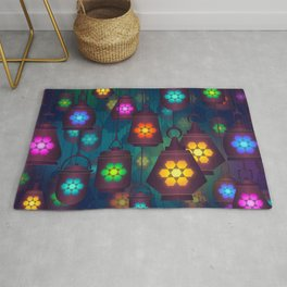 Colorful Lanterns Pattern Rug
