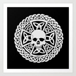 Skull Cross Art Print