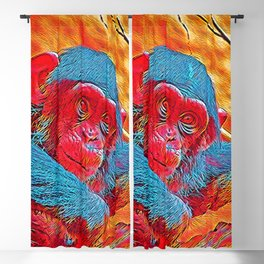Popular Animals - Baby Chimp Blackout Curtain